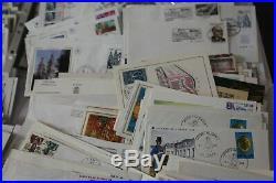 Lot De 830 Enveloppes Cartes Premier Jour Commemoratif Lot A Trier