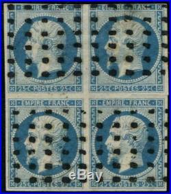 Lot N°182 France N°15 Bloc de 4 Oblitéré Qualité ST