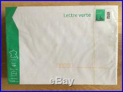 Lot de 100 enveloppes prêt à poster 50G verte