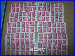 Lot de 10 carnets de timbres lettre prioritaire pour affranchissement