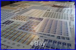 Lot de feuilles de timbres en FRANCS neuves sous faciale