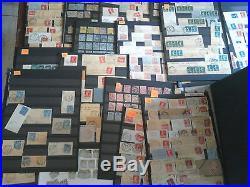 Lot important de 13 albums et 28 planches environ 10000 timbres majorité France