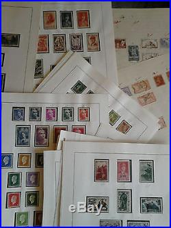 Lot important de 300 feuilles environ 4000 timbres de France de 1849 à 1950