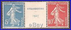MERICSHOP-122-RARE FRANCE STRASBOURG 1927 N°242A MNH CV 1200 LUXE