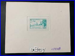 Maroc épreuve non émis unadopted timbre aviation Temara 1952 ex-LECCESE l