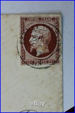 NAPOLEON III Essai de couleur du N° 15 en carmin RARE