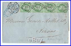 N°12 Bande De 4 Perce En Ligne Signe Calves Paris Bureau B2 Amiens Somme Lettre