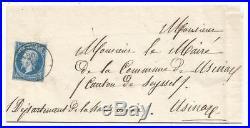 N° 14 Cachet Sarde Ruffieux 20 Lug 1860 Lettre Savoie Cover Rrrr