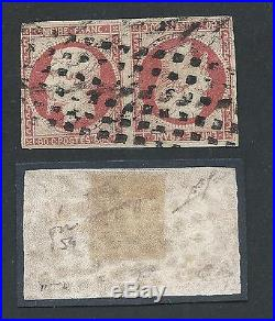 N°17b Tete Beche Signe Calves Cote 15000 Timbre Stamp France