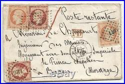 N°17x2+16x2 Lettre Cover Pc 1496 Le Havre 1856 Ingénieur Napoleon Norvege Norway