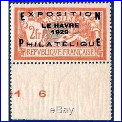 N° 257a Exposition Du Havre 1929 Timbre Neuf