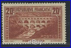 N°262 Pont du Gard 20fr chaudron (IIB) Neuf TB 1931 Signé Calves