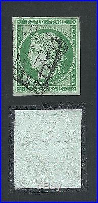 N°2 Grille Superbe Signe Brun Timbre Stamp France