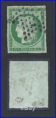 N°2 Paris Etoile Pleine Ttb / Sup Signe Calves Roumet Timbre Stamp France
