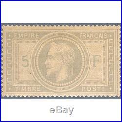 N° 33 Type Napoleon Timbre Neuf Signe Thiaude Avec Certificat, 1868