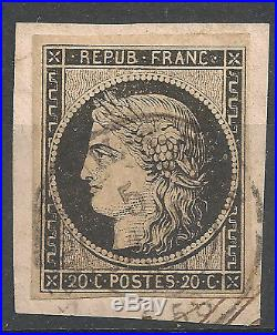 N°3 CERES, CAD du 5 JANVIER 1849 Breteuil-S-Noye (58), TB