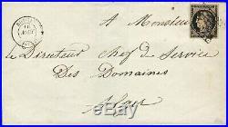 N°3 sur lettre ceres 20 c très rare utilisation en Algérie cad Bougie 16 08