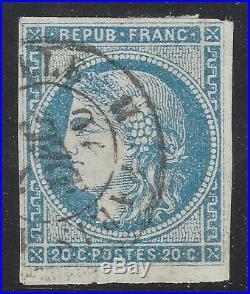 N°45Ac Cérès Bordeaux 20c Type II R1 Impression fine TB oblitéré Signé Calves