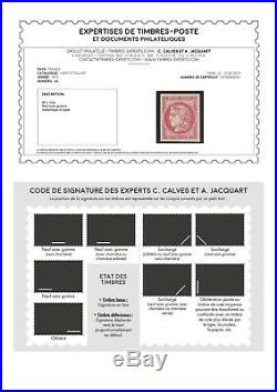 N°49 Cérès Bordeaux 80c rose Neuf presque TB qualité luxe Signé & Certif