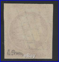 N°6 Cérès timbre classique 1fr Carmin oblitéré Grille qualité TB Signé A. Brun