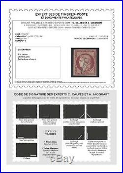 N°6 Cérès timbre classique 1fr Carmin oblitéré qualité TB Signé + Certificat