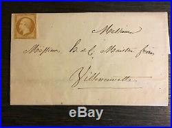 N°9 10cts République NEUF sur lettre locale ayant circulé. Cote = 12000. RARETÉ