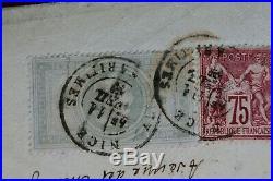 Napoléon III N° 33 + N° 71 affranchissement mixte sur lettre chargée