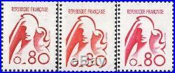 Non Emis Marianne De Bequet N° 1841 A Luxe Les 3 Tirages Rouge Vermillon Carmin