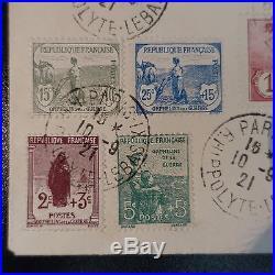 Orphelins Guerre N°148/155 Sur Lettre Cover Cad Paris IX R. Hippolyte Lebas 1921