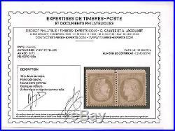 PAIRE TÊTE-BÊCHE N°58 CERES neuve + CERTIFICAT, Cote 4000 EUR, signée CALVES
