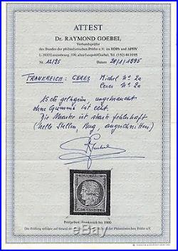 Pp5851/ France / Maury # 2 Neuf  / Mint Mh 14 000
