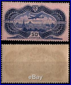 P. Aérienne 15 AVION Burelé, Neuf Certifié = Cote 1.500 / Timbre France
