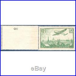 Pa N°14 Avion Survolant Paris Timbre Neuf Bord De Feuille 1936
