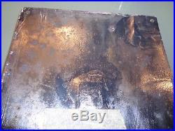 Plaque émaillée TIMBRE ALSA légèrement restaurée vers 1920