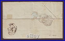 Pli en affranchissement mixte de Oran pour Montauban, sept 1871, signé Roumet