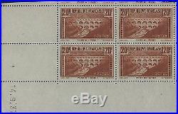 Pont du Gard, timbre de France N°262 en bloc coin daté neuf SUP. R