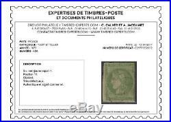 RARETE 5c Bordeaux Report I certificat CALVES (N°42A case 11, cote 5750)