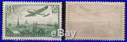 RARE SUPERBE POSTE AERIENNE N°14, 50F VERT NEUF / MINT MNH Cote 2000 euro