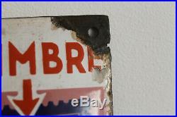 Rare plaque émaillée timbre levure alsa alsacienne eas strasbourg top couleur