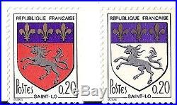 SUPERBE et RARE variété MAURY N° 1510 e blason St Losans le rouge cote 950