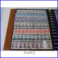 Stock De Timbres De France Par 10, Annees 1930-1975 Obl, Cote 23600