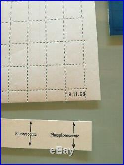 Superbe tres rare feuille essai sans vignette palissy barres fluo et phosphore
