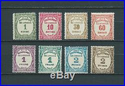 TAXES 1927-31 YT 55 à 62 TIMBRES NEUFS MNH LUXE