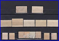 TB N123,126,133,143,144,182&257ABrdx&Havre s. Uzan, N206/7, FM1à4, Préo29&30, N