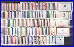 TIMBRES FICTIFS, COLLECTION DE 200 différents neufs MNH, TB