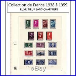 Timbre Collection de France 1938 à 1959 complet LUXE, NEUF SANS CHARNIERE