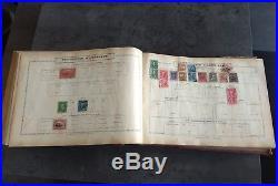 Timbre Monde Album Arthur Maury Annees 1910 Lot +1400 Timbres Obliteres Em