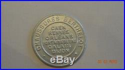 Timbre Monnaie Kapselgeld Encased Stamp Chaussure Berthelot Semeuse 5 C