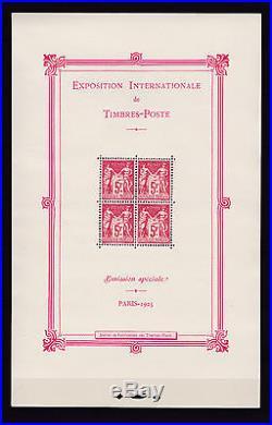 Très beaux Blocs N° 1 Exposition de Paris, neuf, 2 & 3 Strasbourg&Pexip, obl