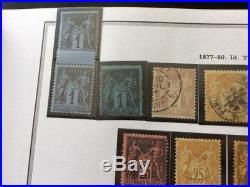 VENTE ÉTÉ 2# LOT 522-2 collection timbres ceres à sage bleu cobalt & de Prusse